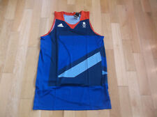 ADIDAS TEAM GB 2012 BASKETBALL JERSEY/SHIRT, COLOR NAVY/RED, SIZE 2XL2
