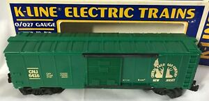 K-Line ~ Central New Jersey (Green) Boxcar ~ #K6416 ~ NEW IN BOX