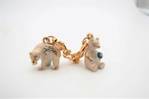 Joan Rivers Noah's Ark Gold Tone Polar Bear Charms w/Enamel & Extender Chain