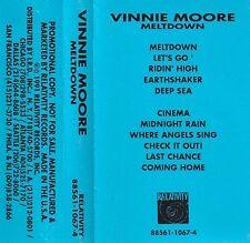 VINNIE MOORE Meltdown Cassette Tape Rare Promo Shred Heavy Metal Guitar FREE S&H