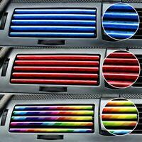 10Pcs Car Auto Accessories  Colorful Air Conditioner Air Outlet Decoration Strip