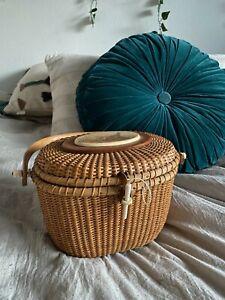 Vintage Nantucket Basket Purse Pheasant detail RARE - excellent condition