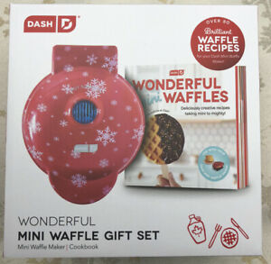 Dash Wonderful Mini Waffle Gift Set DASH DMWCB100MR 80+ Recipes -