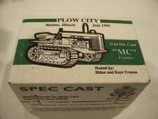 JOHN DEERE MC CRAWLER 1:16 SCALE DIECAST SPEC CAST NIB PLOW CITY 1995