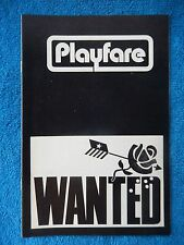 Wanted - Cherry Lane Theatre Playbill - January 1972 - Andra Akers - Silver