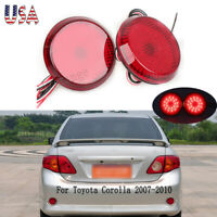 For Nissan Qashqai Toyota Corolla Red LED Tail Rear Bumper Reflector Light Lamp