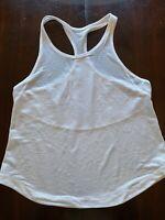 Lululemon Long Distance Tank size 6 Heathered White singlet top shirt