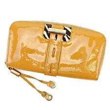 Jimmy Choo Wallet Purse Long Wallet Beige Gold Woman Authentic Used L1422