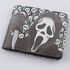 Movie Film Scream Ghostface PU Synthetic Leather Short Purse Wallet
