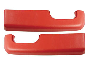 New 1973-79 F100 Armrest Pads LH and RH Pair F150 F250 Ford Pickup Bronco Red
