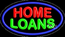 """NEW """"HOME LOANS"""" 30x17 OVAL SOLID/FLASH REAL NEON SIGN w/CUSTOM OPTIONS 14223"""