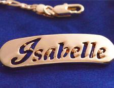 Nombre Pulsera Isabelle de 18 quilates chapado Oro Rosa Laminado En El Día De Madre Regalo Personalizado