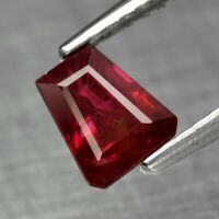 Rare! 0.82ct 6x5mm Fancy Natural Unheated Red Ruby, Mozambique *Certified