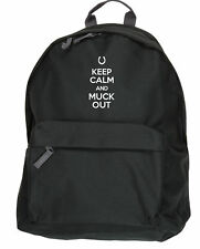 Keep Calm and Muck Out Horse Riding backpack bag Size: 31x42x21cm