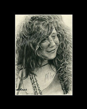 Janis Joplin singer-songwrither drawing from artist art Image piacture