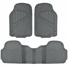 FlexTough Heavy Duty All Weather Rubber Car Floor Mats with Row Liner - Gray