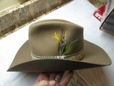 Vintage boxed John B. Stetson Hat 4X BEAVER Desert Sand Rancher Size 7 1/8