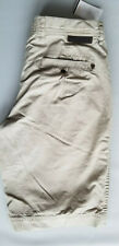 BEN SHERMAN Men Floyd Leather Patch 100% Cotton Casual Shorts - Size 28 Khaki