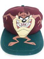 Vintage Taz Hat 90s Snapback Hat Taz Cap Maroon Hat Hip Hop Street Style