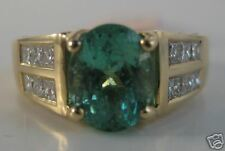 18KY 2.64 Ct. Paraiba Tourmaline & Dia. Ring-RARE!