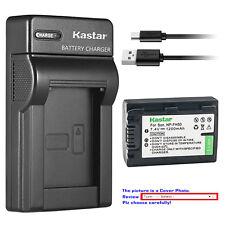 Kastar Battery Slim Charger for Sony NP-FH50 & Sony Cyber-shot DSC-HX1 DSC-HX100