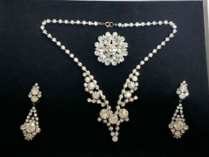 Vintage French Designer SET of 3 jewellery pieces for a princess like evening