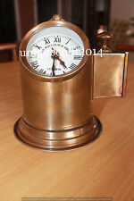 ANTIQUE NAUTICAL BRASS LAMP HELMET W/WATCH MARINE REPLICA COLLECTIBLE GIFT