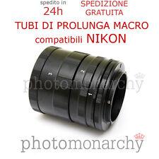 Set TUBI PROLUNGA MACRO per NIKON D40 D50 D60 D70 D80 D90 D100 D200 D300 D700