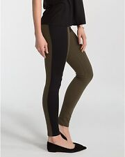 Spanx Women's Textured Panel Leggings Color Olive Size M