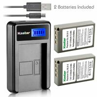 Kastar Battery and LCD Slim USB Charger for Olympus PS-BLS5 E-620 P3 PL6 PM1 M10