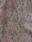 antique vintage paisley hand crafted fabric