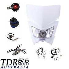 Rec Reg Head Tail Light kit Fit Suzuki Rmz450 RM2250 DRZ125 DRZ70 White