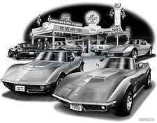 "CORVETTE 1972, 1969 C3 MUSCLE CAR AUTO ART PRINT #1044 ""FREE USA SHIPPING"""