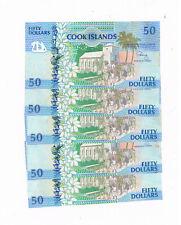 COOK ISLANDS P 10 5X50 DOLLARS 1992 CHURCH SCHOOL BOAT AU LITTLE STAIN