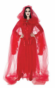 Cursed Scarlet Red Cape Adult Costume Accessory NEW Devil Demon Satan