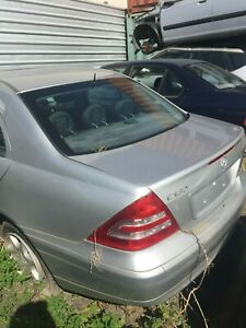 MERCEDES BENZ C180 SEDAN 2002 SILVER 4CYL AUTOMATIC, FROM $1 WRECKING