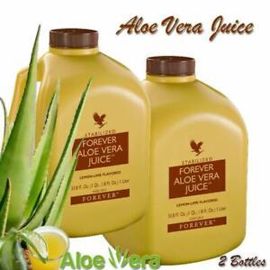 2 Forever Aloe Vera Juice 33.8 fl.oz EXP. DATE 04-2023 Original Rare