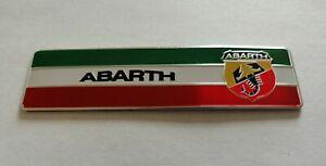 FIAT ABARTH 3D METAL BADGE LOGO EMBLEM STICKER GRAPHIC DECAL 500 595 124 SPIDER.