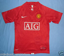 Manchester United / 2007-2009 Home - NIKE Junior Shirt / Jersey. Size: 10/12 yrs