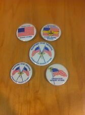 5 Lot Of Patriotic Buttons Pinback~B1-L38 *