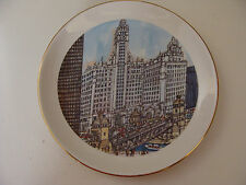 Franklin McMahon 1973 Wrigley Building Michigan Ave Chicago Collector Plate