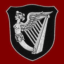 VEGASBEE® IRISH HARP IRELAND WINGED MAIDEN ERIN EMBROIDERED IRON-ON PATCH 3.75""