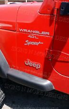 1997-2006 JEEP WRANGLER Sport 4.0L Replacement fender Decals sticker TJ FULL SET