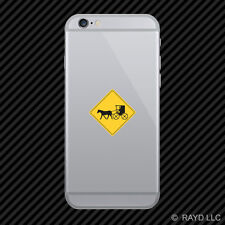 Warning Carriage Crossing Cell Phone Sticker Mobile Die Cut Amish