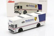 Mercedes-Benz O 317 Renntransporter Rothmans Porsche weiß / blau 1:43 Schuco