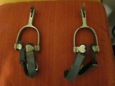 Vintage spurs with hearts and anchor stamp leather straps