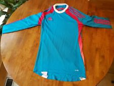 Adidas adizero Ladies S Long Sleeve active Running Top turq with magenta stripe