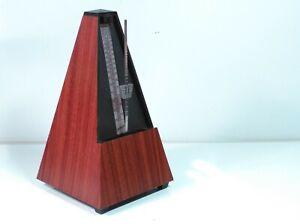 Vintage Wittner Metronome Plastic Mahogany Wood Grain Finish West German TESTED