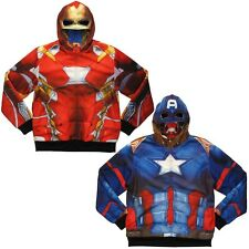 Civil War Captain America and Iron Man Reversible Costume Hoodie - Size Adult XL