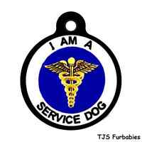 I AM A SERVICE DOG-Pet ID Tag for Dog Collars! SHIPS FREE!